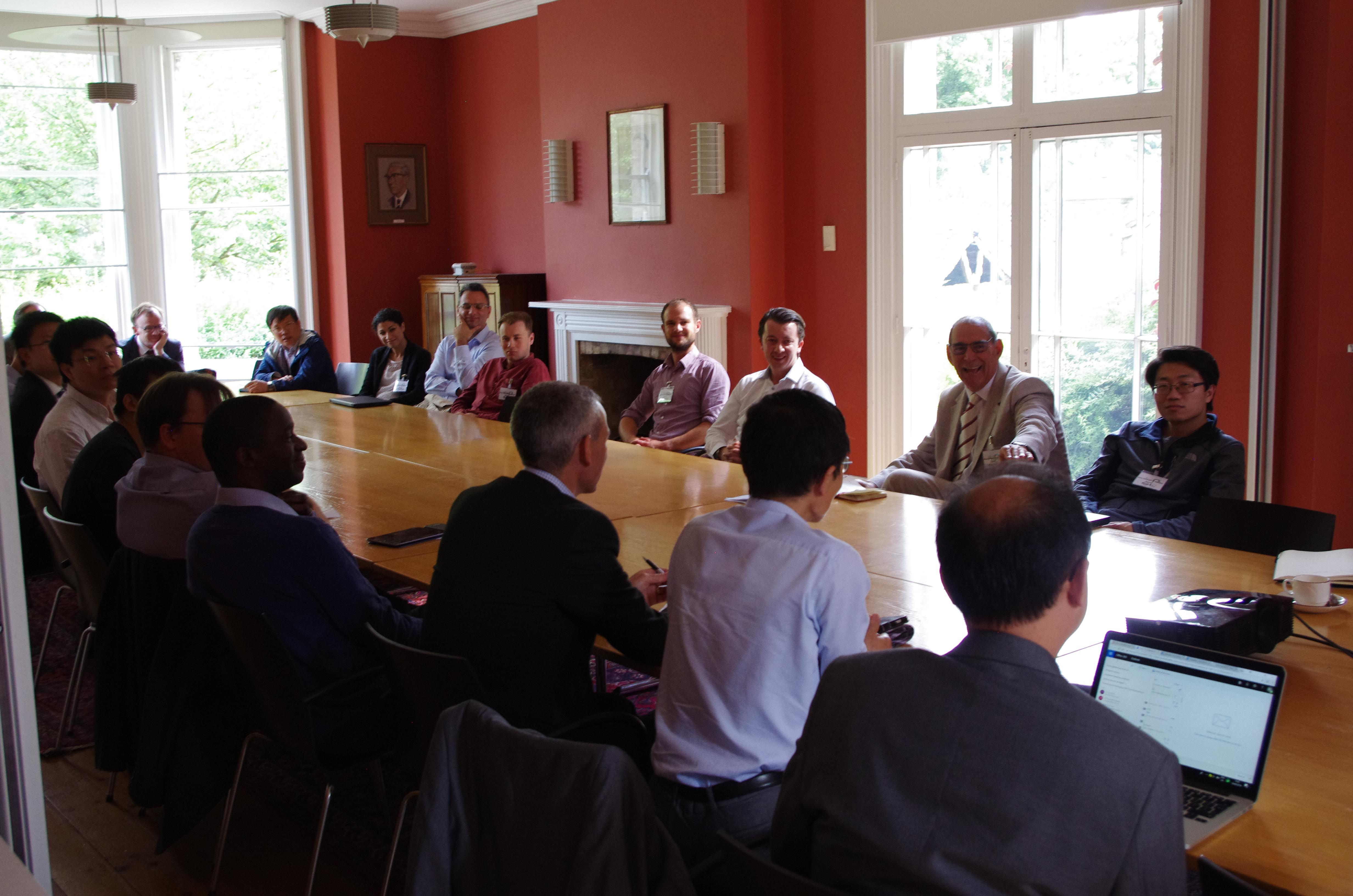Professor Tavner chairs one of the round table discussions